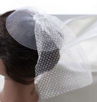 White Veil Headpiece